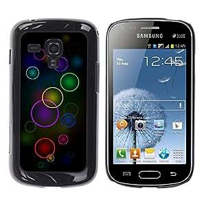 Be Good Phone Accessory // Dura Cáscara cubierta Protectora Caso Carcasa Funda de Protección para Samsung Galaxy S Duos S7562 // Colorful Circles