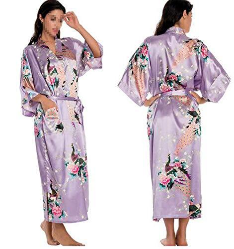 Silk Kimono Robe Bathrobe Women Satin Robe Bridesmaid Summer,As The Photo show6,M (Bed And Beyond Bath Kelowna)