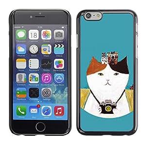 X-ray Impreso colorido protector duro espalda Funda piel de Shell para Apple iPhone 6 Plus(5.5 inches)- Photo Camera Photography Kitten Cat