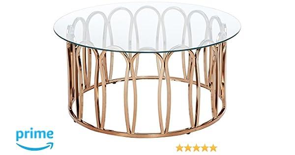 Amazon.com: Scott Living 705788 Hemett Coffee Table, Chocolate Chrome:  Kitchen U0026 Dining