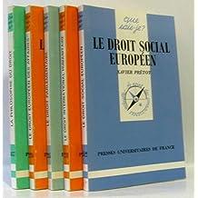 Lot de 5 livres sur le droit: Droit social européen; droit international humanitaire; droit parlementaire; droit européen des affaires; philosophie du droit