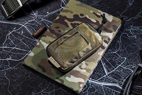 OneTigris Front Pocket Mini Wallet with Waterproof Zippers CASSETTE EDC Pouch 500D Nylon