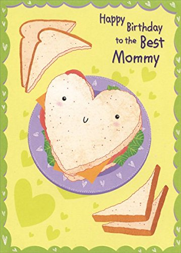 Heart Shaped Sandwich: Mommy - Designer Greetings Birthday Card