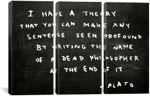Icanvasart Bnk65 3 Pièces Plaque De Faux Citation Par Banksy