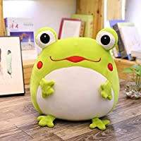 35cm Emotional Green Frog Plush Toy Down Cotton Stuffed Squishy Animal Functional Animal Pillow Flannel Blanket Hands…