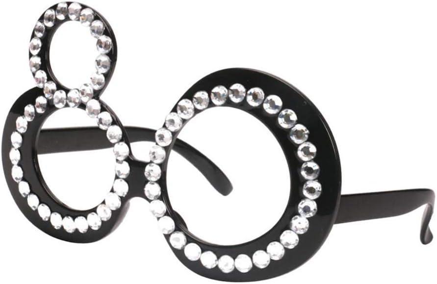 Inzopo 21//70//80 gafas de cumplea/ños boda gafas de sol divertidas Marco de cristal con n/úmero recuerdos de fiesta novedad decoraci/ón de celebraci/ón para adultos 80 15 x 5,5 cm gafas de sol