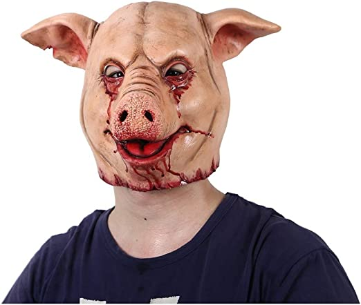 GGOII Máscara de Navidad Horror Pig Overhead Animal Mask Latex Pig ...