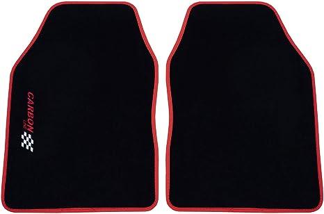 Petex SITZBEZUGSET UNIVERSALE BLU CARBONIO 11 pezzi anteriore posteriore Set Completo