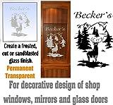 gun cabinet with etched glass - Deer Buck Mountains DIY Etched Glass Vinyl Gun Cabinet Window Front Door GC07B
