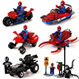 Aurookeb Spider-man with War Chariot Assembling Block Toys Pack of 6 / 1.9-inches (plastic)