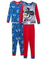 LEGO Ninjago Boy 4-pc. Pajama Set Size 4 Blue / Red
