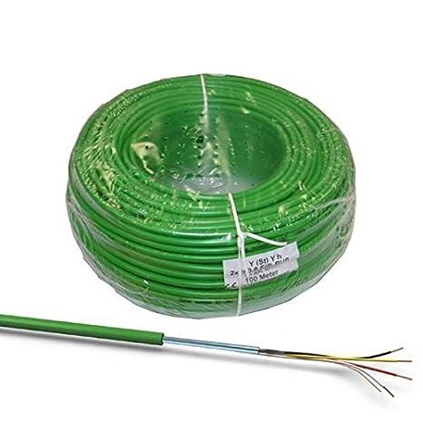 100 M EIB de Front Cable de Color Verde De J y (St) YH + PremiumX ...