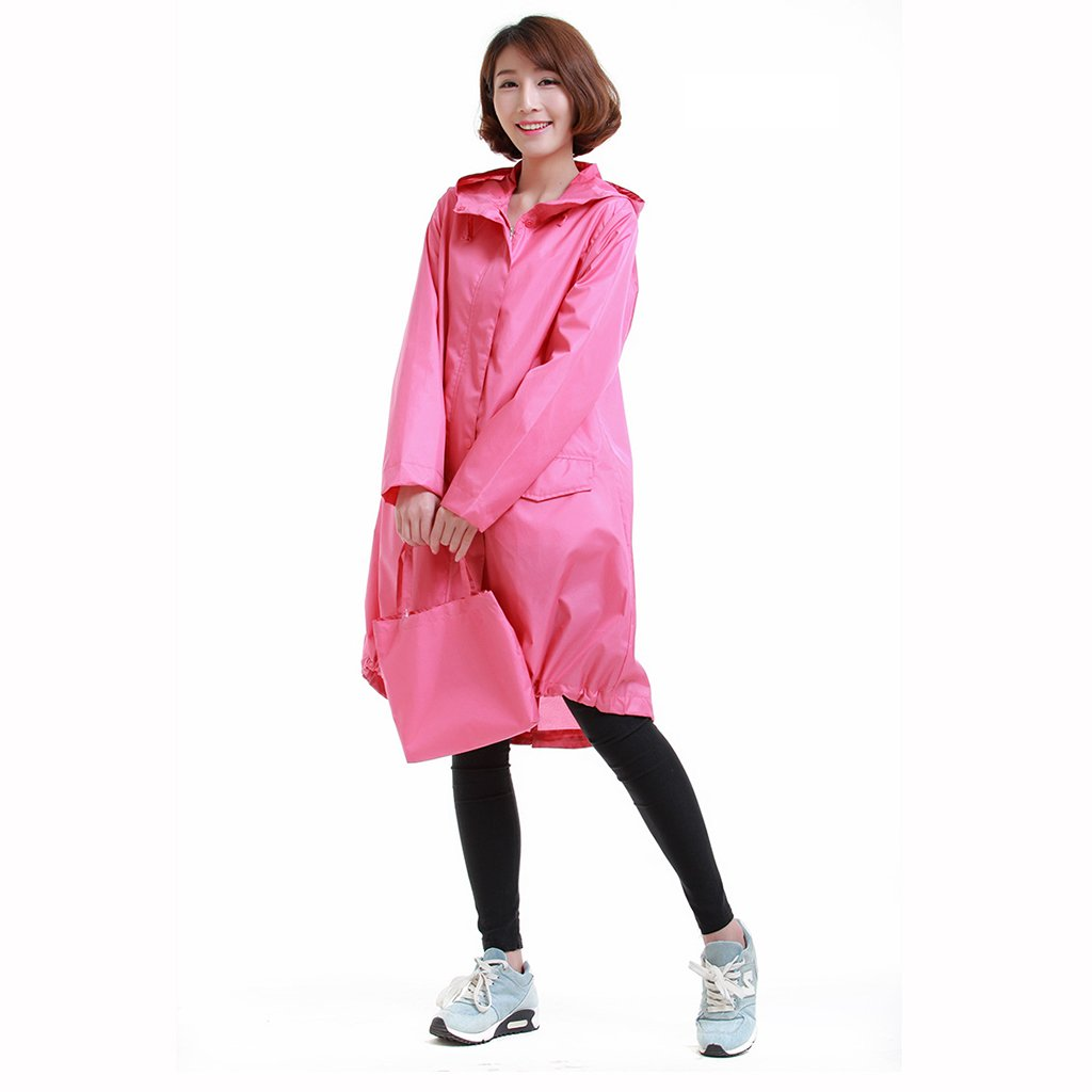 Hyxyy Aire Impermeable Impermeable Poncho Luz Mujeres Casual Luz ...