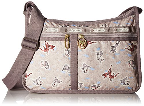 Lesportsac Deluxe Shoulder Satchel (LeSportsac Bambi X Deluxe Everyday Bag, Thumpin Around)