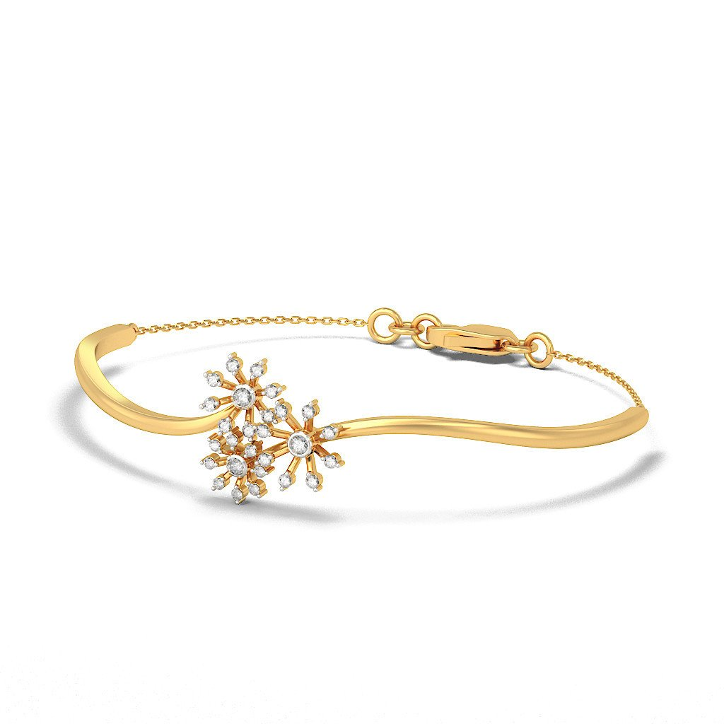 HallMarked 14K Yellow Gold 0.325 cttw Round-Cut-Diamond IJ| SI identification-bracelets Size 8.5 inches