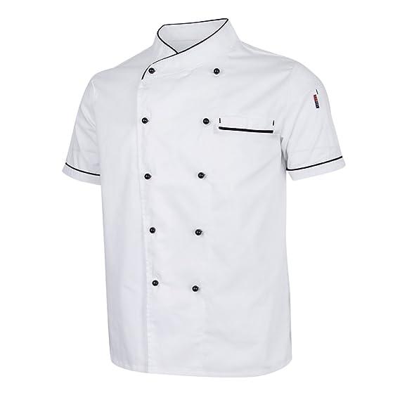 Homyl Chaqueta de Chef Ejecutivo Repostera Pastelería Ropa de Chef de Restaurante Catering Hotel: Amazon.es: Ropa y accesorios