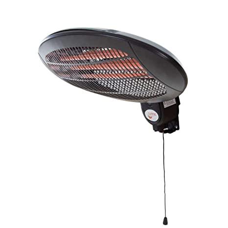 Sunred Calefactor de Pared 2000W Ajustable Cuarzo Negro Estufa Radiador WMQ2000A