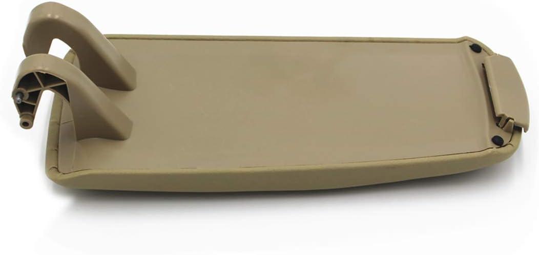 Ezzy Auto Gray Leather Center Console Armrest Lid Cover Center Console Armrest Box Cover fit for Audi A4 B6 B7