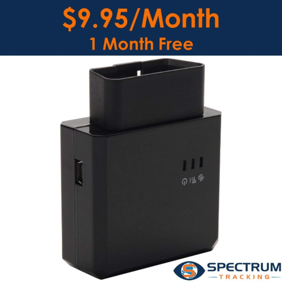 Spectrum Smart:3G OBD II GPS Tracker for Vehicles, Teen Driver Monitoring Device, Fleet Tracking Device, 9.95 Per Month. One Month Free Trial