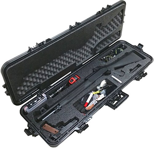 Case Club Pre-Made Tactical Shotgun Waterproof Case with Accessory Box and Silica Gel to Help Prevent Gun Rust (Best Pistol Grip Stock For Remington 870)