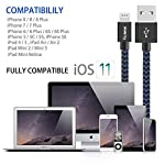 Hunletai-Cavo-iPhone-1M1M2M-3-Pezzi-Cavo-Lightning-Nylon-Intrecciato-Caricabatterie-per-iPhone-XSXRX-Max-88-Plus-77-Plus-6-6S-5-5S-iPad-iPod-Blu