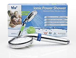 blu ionic power shower filters harmful chlorines ultimate water flow even at low water. Black Bedroom Furniture Sets. Home Design Ideas