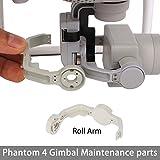iMusk Gimbal Protector Guard Yaw/Roll Arm Cover Cap DIY Replacement Spare Repair Parts for DJI Phantom 4 Gimbal Parts (Roll Arm)