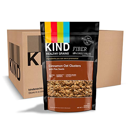 Cinnamon Granola Crunch (Kind Healthy Grains Clusters,  Cinnamon Oat with Flax Granola, 10g Protein, Gluten Free, 11 Oz (Pack of 6))