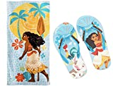 Swim Moana Beach Towel + Flip Flops For Kids! (9/10)