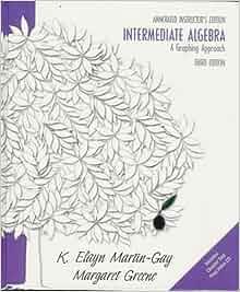 Intermediate algebra k elayn martin gay