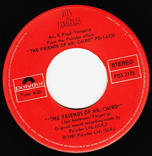 45vinyl THE FRIENDS OF MR CAIRO / THE ROAD (7
