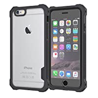 iPhone 6S Case / iPhone 6 Case by Daswise, Clear Bumper Case TPU Armor Full Body Protective Cover Shockproof + Self-adhesive Screen Shield - Drop-tested (10x From 4ft), Dust Proof Design, Hybrid ABS Frame, Anti-scratch Clear PET-screen Protector. For iPho