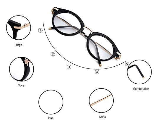 7472750f18355 Amazon.com  GAMT Round Hipster Glasses Clear Full Frame Eyeglasses for Men  and Women  Shoes