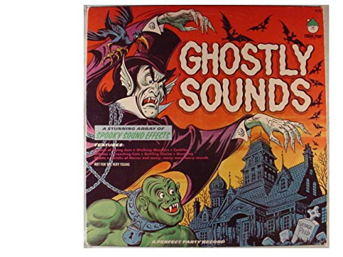 Rare Ghostly Sounds Stereo Lp - A Stunning Array Of Spooky Sound Effects - Not For The Very Young - A Perfect Party Record - Peter Pan Records 1975 -