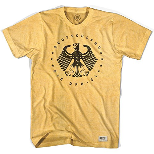 Germany Deutschland Vintage Eagle Soccer T-shirt, Sunshine Heather, X Large