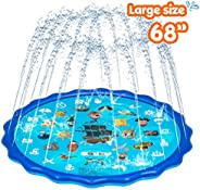 Obuby Sprinkle & Splash Play Mat, Sprinkler for Kids,Upgraded 68' Summer Outdoor Water Toys Wading Poo