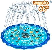 Obuby Sprinkle & Splash Play Mat, Sprinkler for Kids,Upgraded 68' Summer Outdoor Water Toys Wading Poo