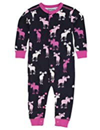 Little Blue House By Hatley Baby Girls' Romper - Pink and Navy Moose