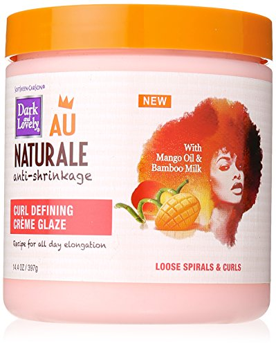 Curly Hair Products by SoftSheen-Carson Dark and Lovely Au Naturale Curl Defining Crème Glaze, with Mango Oil and Bamboo Milk, Defines and Softens Loose Spirals and Curls, Paraben Free, 14.4 oz (Best Curl Defining Products For 4a Hair)