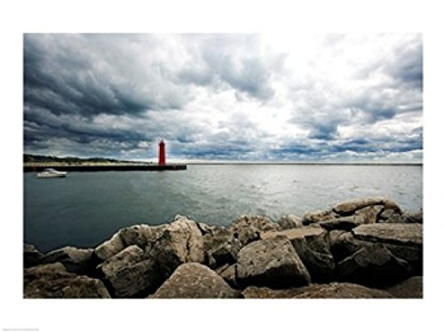 (Posterazzi South Breakwater Lighthouse Lake Muskegon Michigan USA Poster Print (24 x 18))