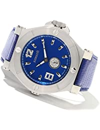 Men's Luxury Swiss Diamond Blue Dial Leather Strap