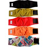 vecomfy Belly Bands for Male Dogs(5 Pack),Premium Black Mesh Lining Small Dog Belly Wrap Leakproof Washable Reusable Puppy Diapers,S