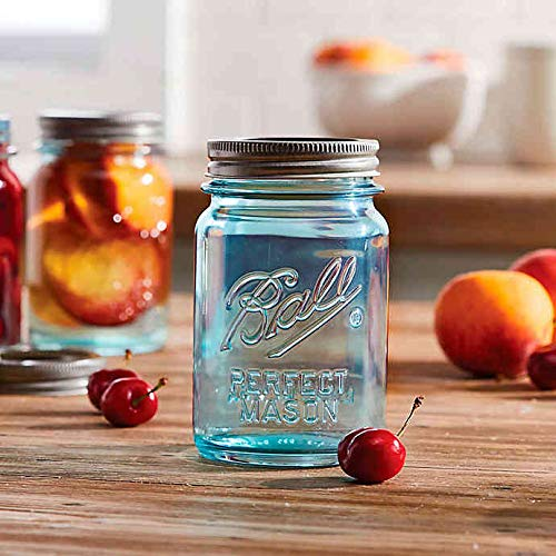 Ball Collectors Edition Vintage Regular Mouth 16 oz. Mason Jars in Aqua (Set of 4)