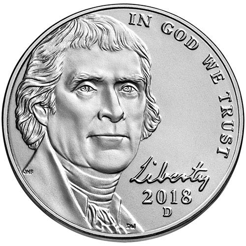 2018 D BU Jefferson Nickel Choice Uncirculated US ()
