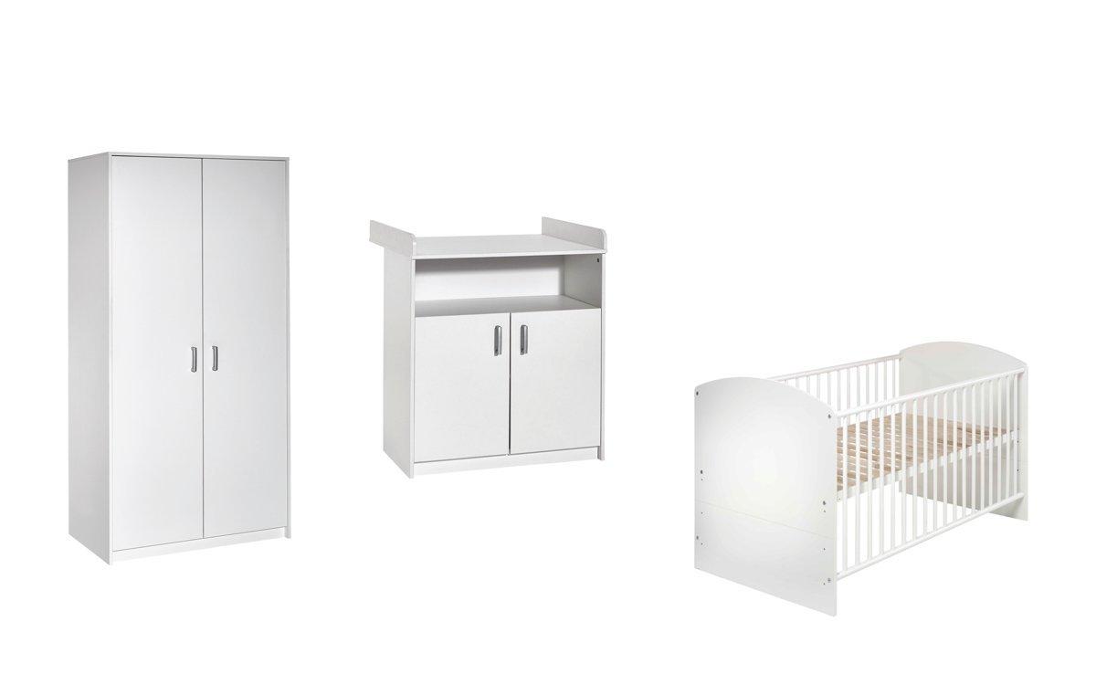 70 x 140 cm Schardt 11 518 02 00 Kinderzimmer 3 teilig Classic White bestehend aus Kombi Kinderbett