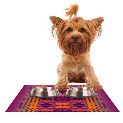 Kess InHouse Nina May Medeasetta  Feeding Mat for Pet Bowl, 18 by 13-Inch