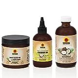 Tropic Isle Living Coconut Jamaican Black Castor Oil + Coconut Hair Food + Coco Rosemary