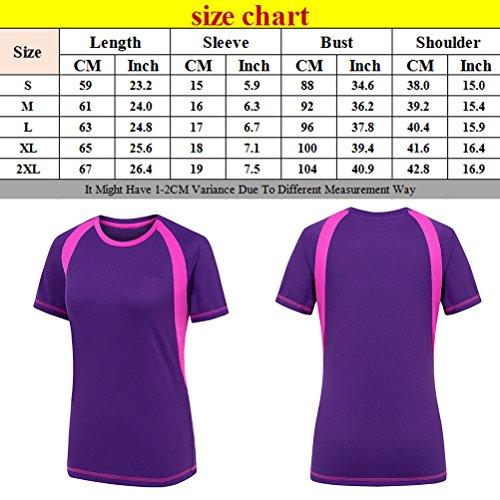 Zhhlinyuan Fashion High Quality Women Short Sleeve Sports Quick-Dry T-Shirt Green