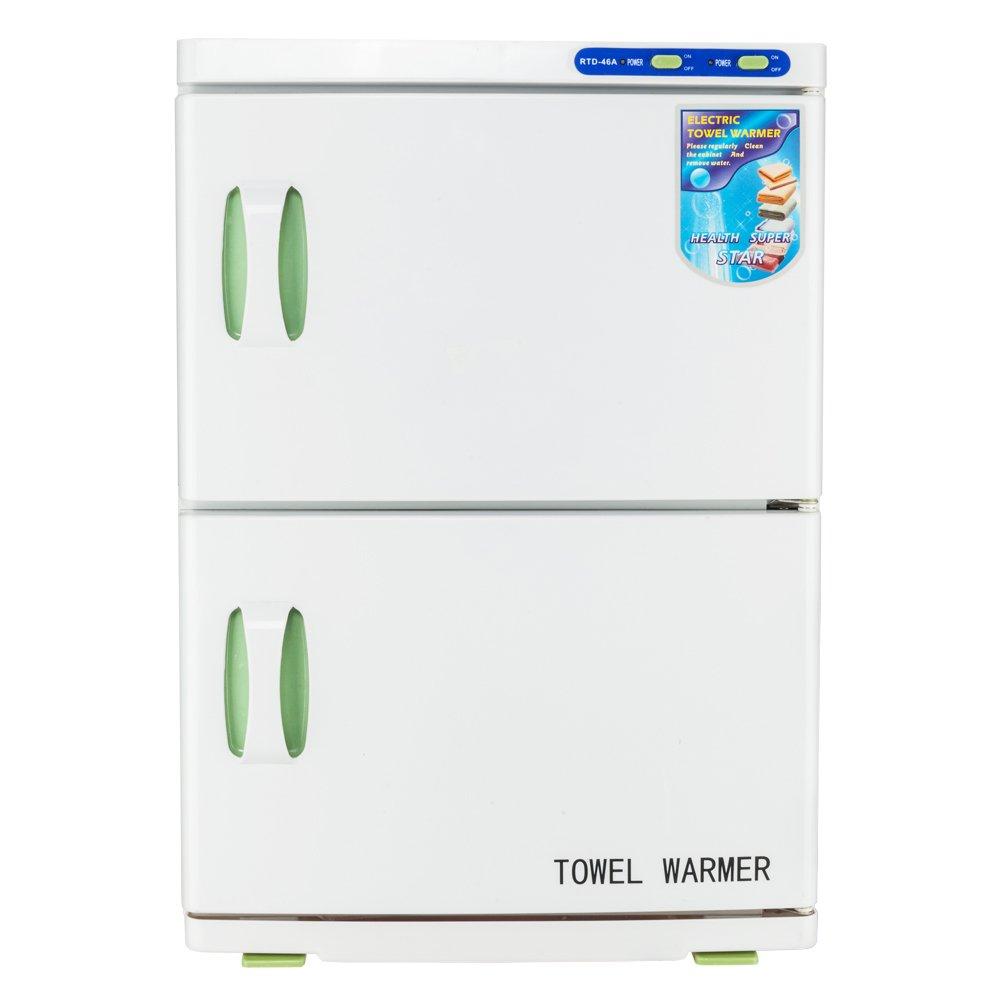 46L Double Compartment Sterilizer Warmer Cabinet UV & Heating Spa Facial Disinfection Salon Beauty Towel Tool Wegi King