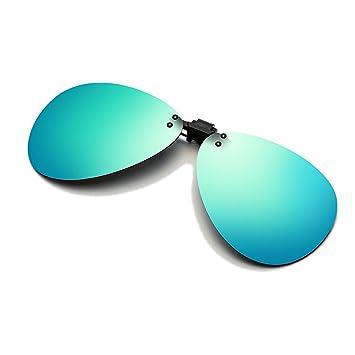 Cyxus Flash aviateur classique Verres Miroir Lunettes de soleil polarisées  à clipser Verres Correcteurs  anti ed1d0d48c0bc